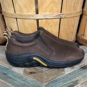Merrell Jungle Moc Nubuck Leather Slip On Shoes